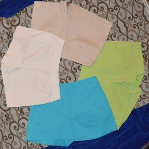 Lot of 4 Cache Like New flat front shorts Size 4